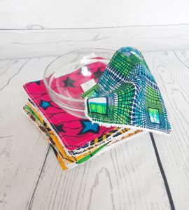 African inspired reusable wipes
